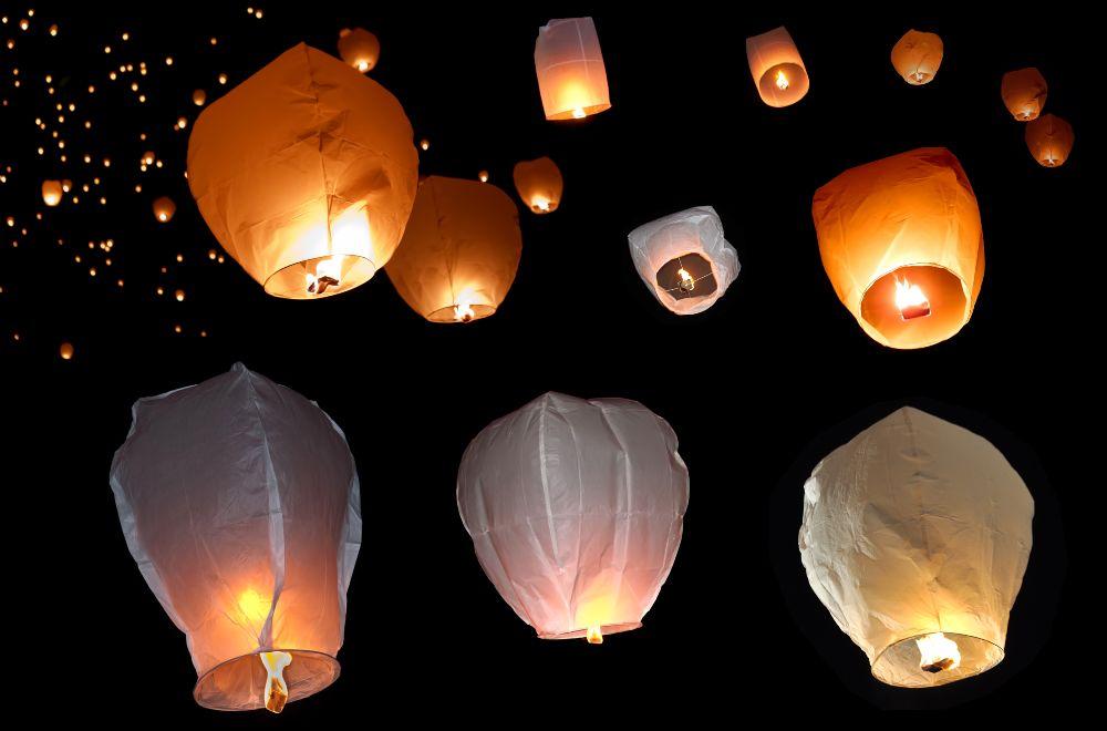 Lietajúce lampióny šťastia